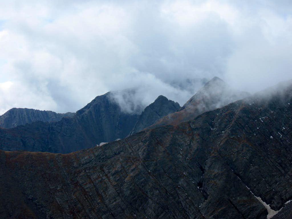 Looking south from Mount Adams' NE ridge