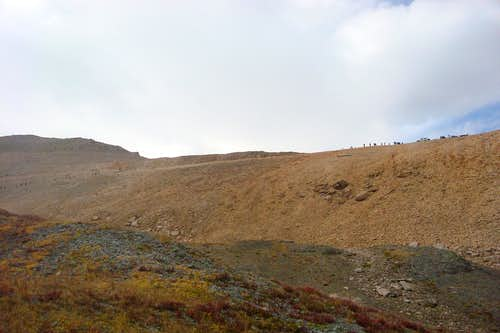 1st glimpse of the Imogene Pass