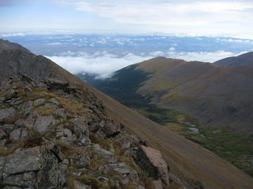 View to East from Mount Adams\' NE ridge