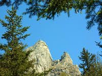Tops surrounded by the firs-...