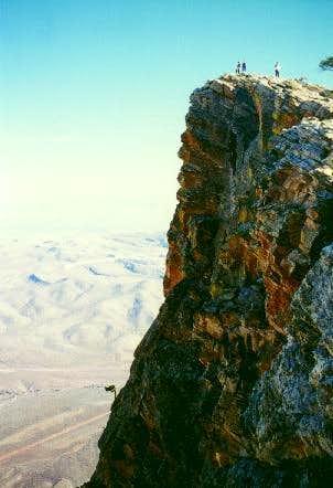 Hikers on false peak. That's...