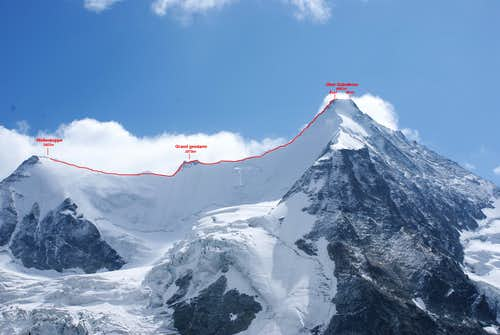 Ober Gabelhorn ENE-ridge