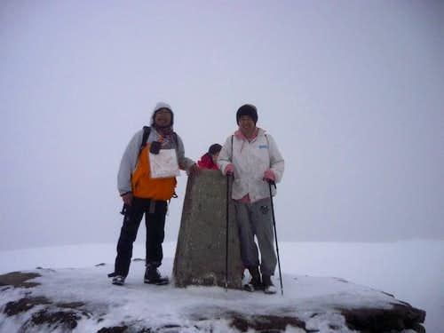 Ben Nevis deep snow in May