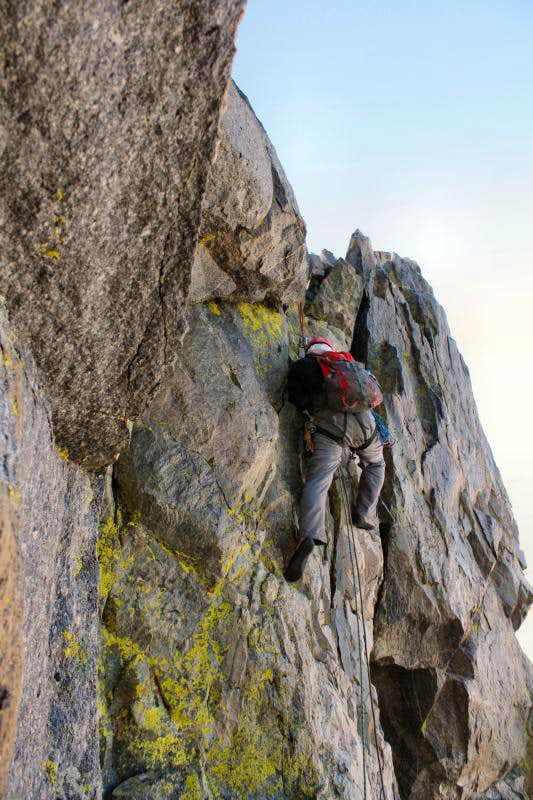 Climbing Turret Peak's West Ridge