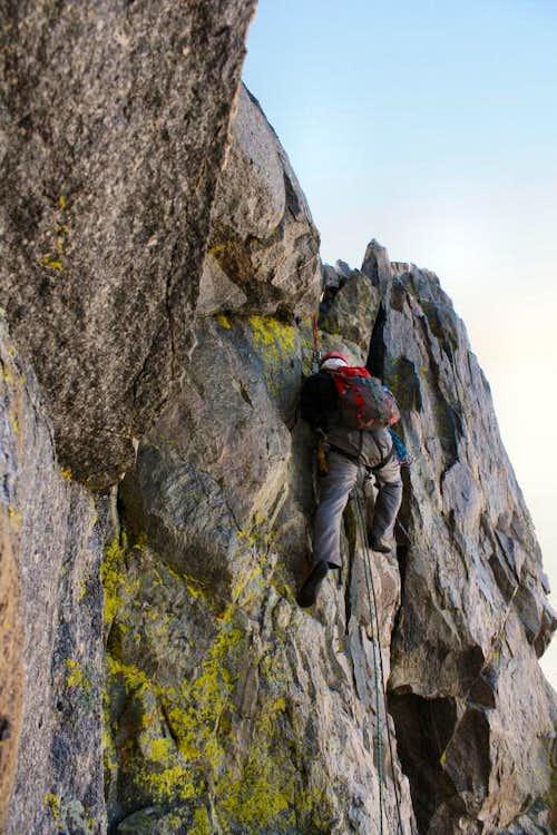Climbing Turret Peak's West Ridge