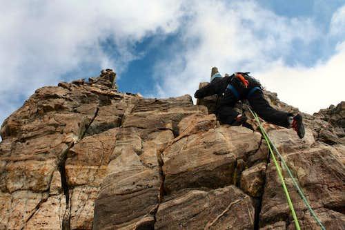 Easier ground on Turret Peak's West Ridge