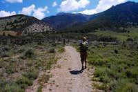Daniel walkin toward stile