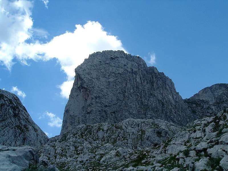 Unnamed nose-shaped peak
