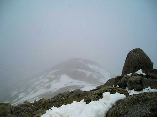 Looking down the east ridge...