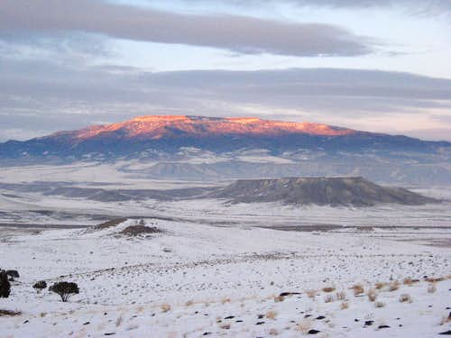 Grand Mesa winter sunset