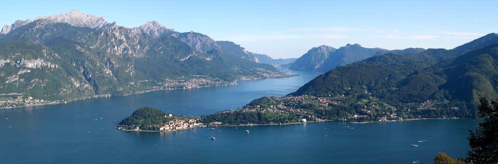 Como lake and Bellagio's peninsula