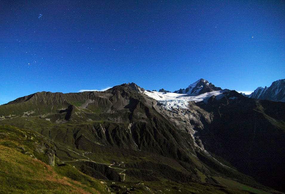 Glacier du Tour - Full Moon Panorama