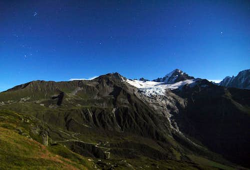Glacier du Tour - Full Moon Panorama