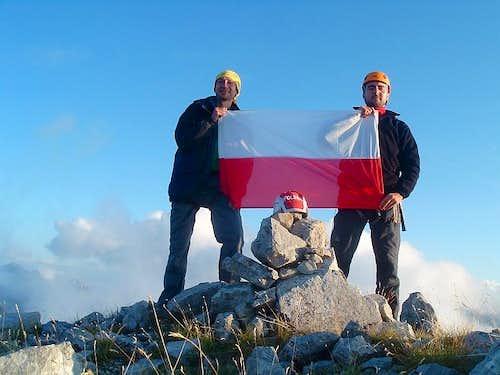 At the summit of Maja Lagojvet