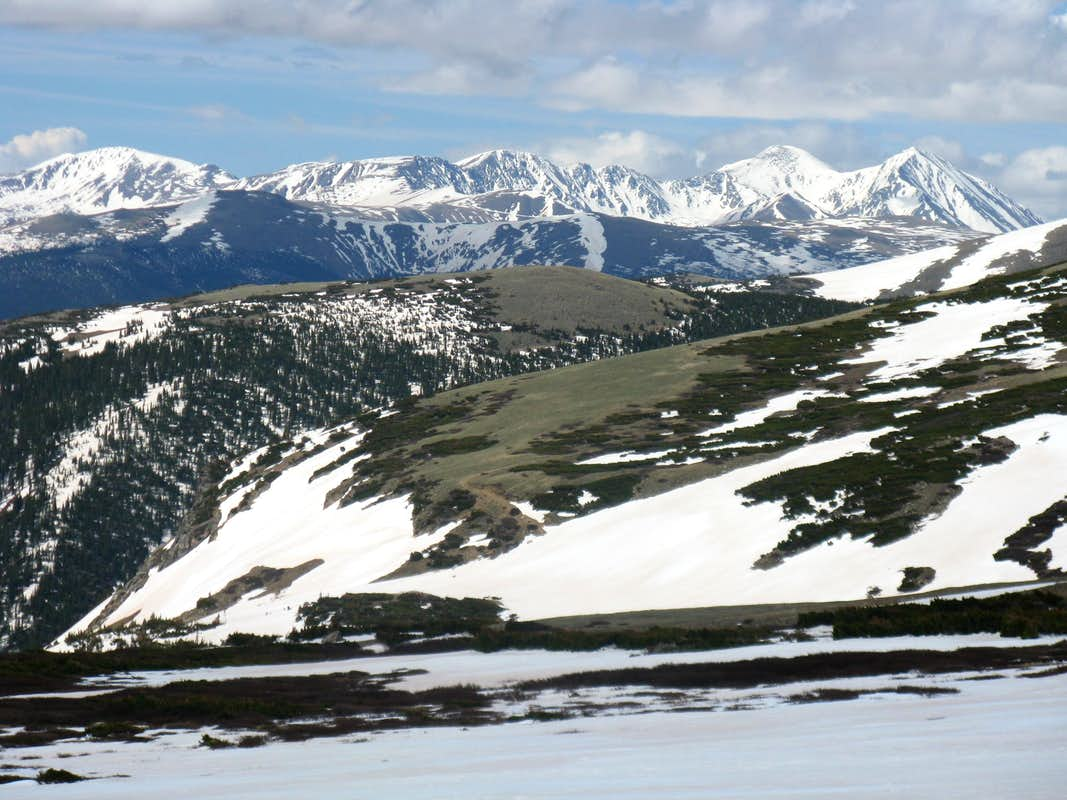 South from the slopes of James Peak