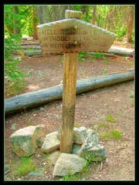 Imogene Lake Trail Sign