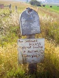 White Butte donation box