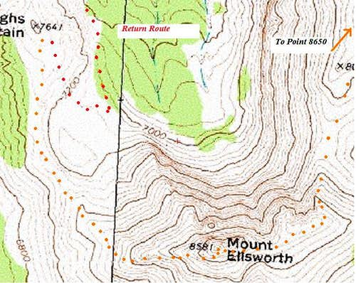 Ellsworth Topo Map