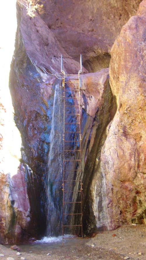 Arizona Ringbolt Hot Springs 20\' Ladder Leading Up To The Pools