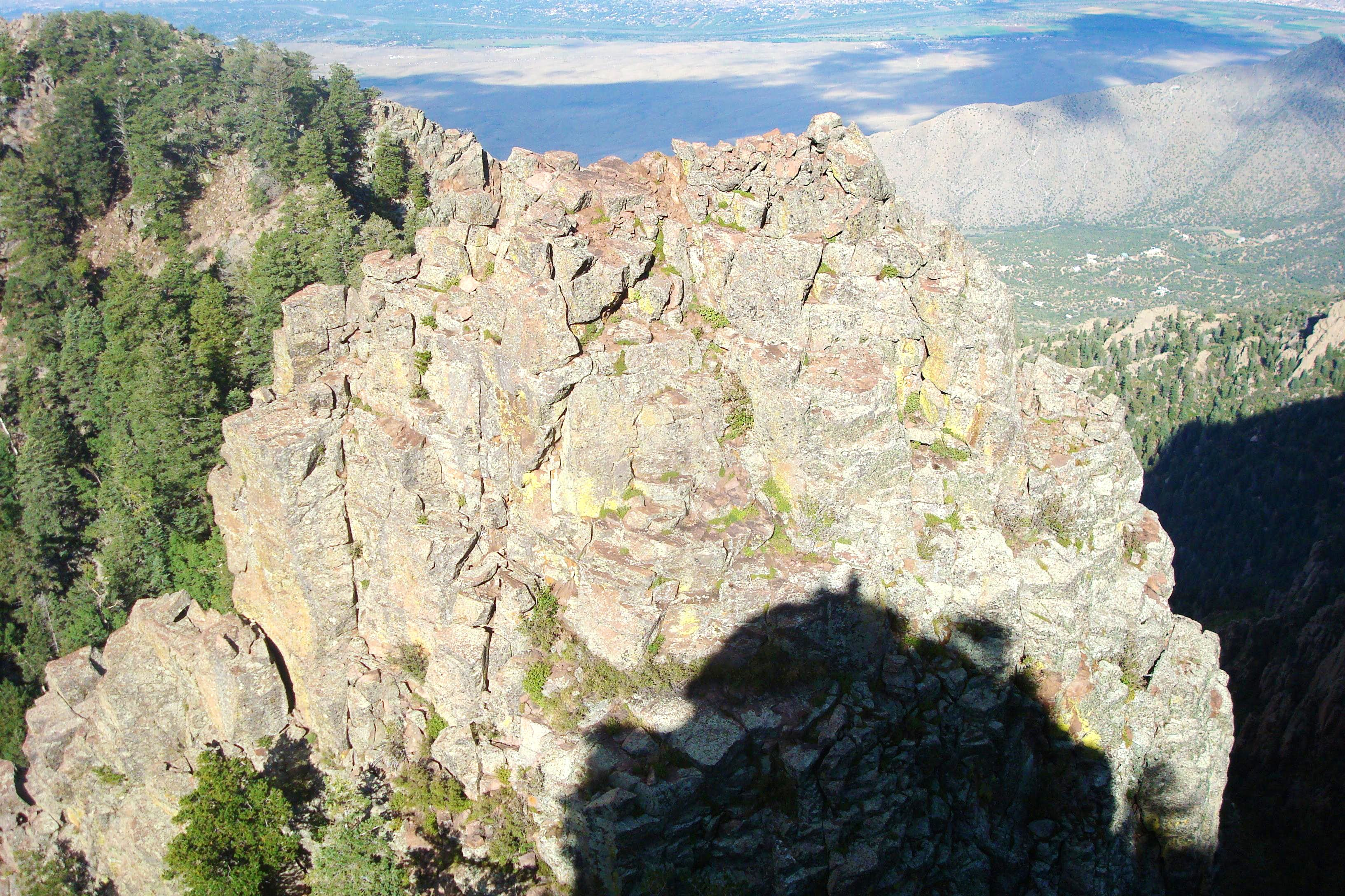 Climbing The Sentinel, Sandia mountains