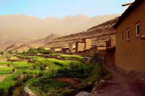 Berber village north of the...