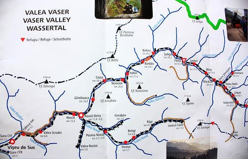 Vaser valley - Railway map