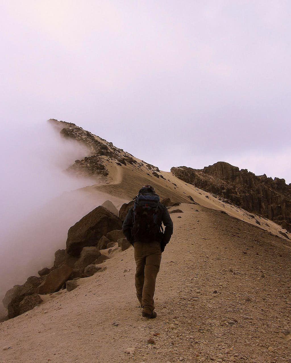 The ridge of Guagua Pichincha