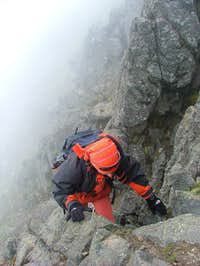 Scrambling in Rucu Pichincha direct route