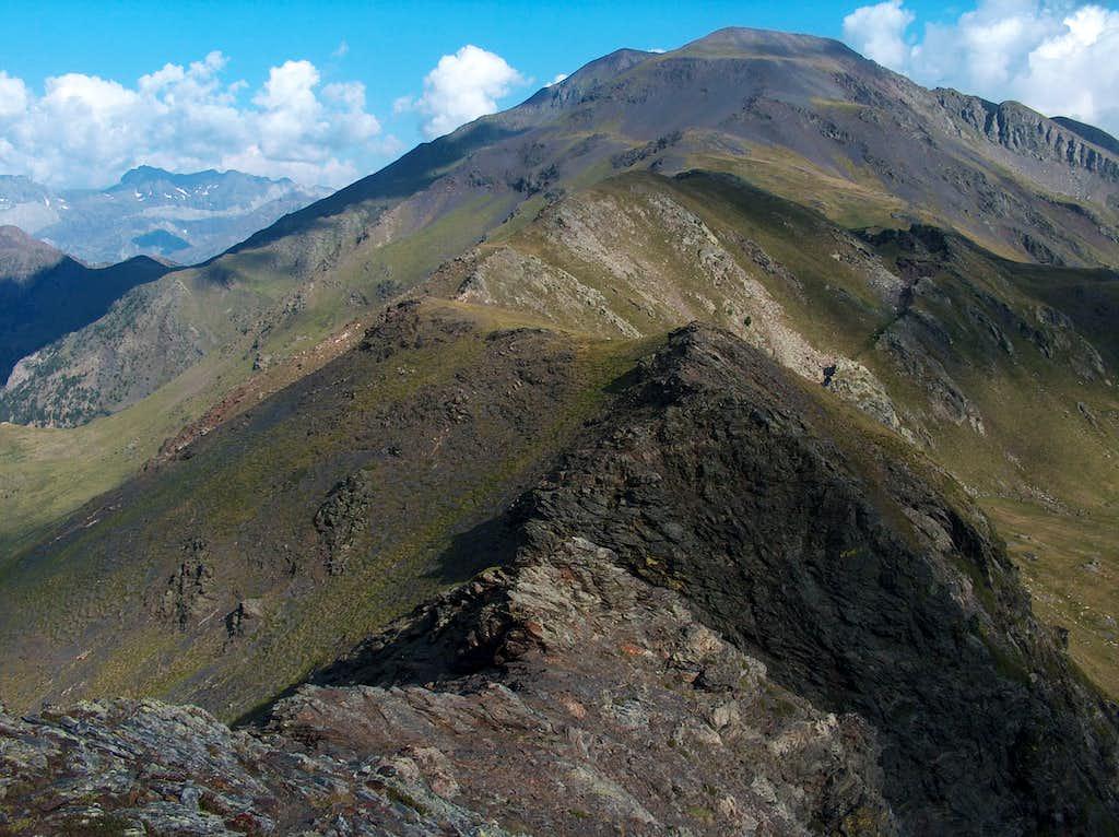 Descending the Pico d'Ordiceto by the west ridge