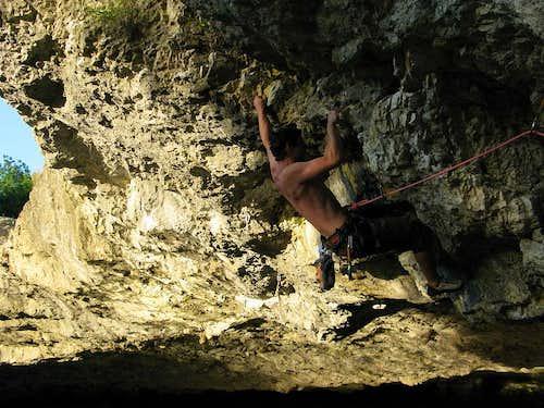 Rock climbing at Zarečki krov