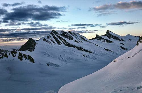 View of the Fiescherhörner...