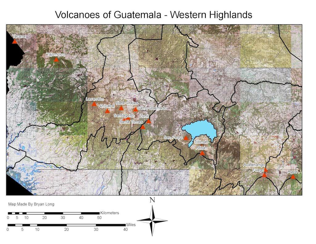 Volcanoes in Western Guatemala