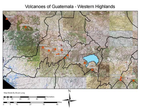 Volcanoes in Western Guatemala