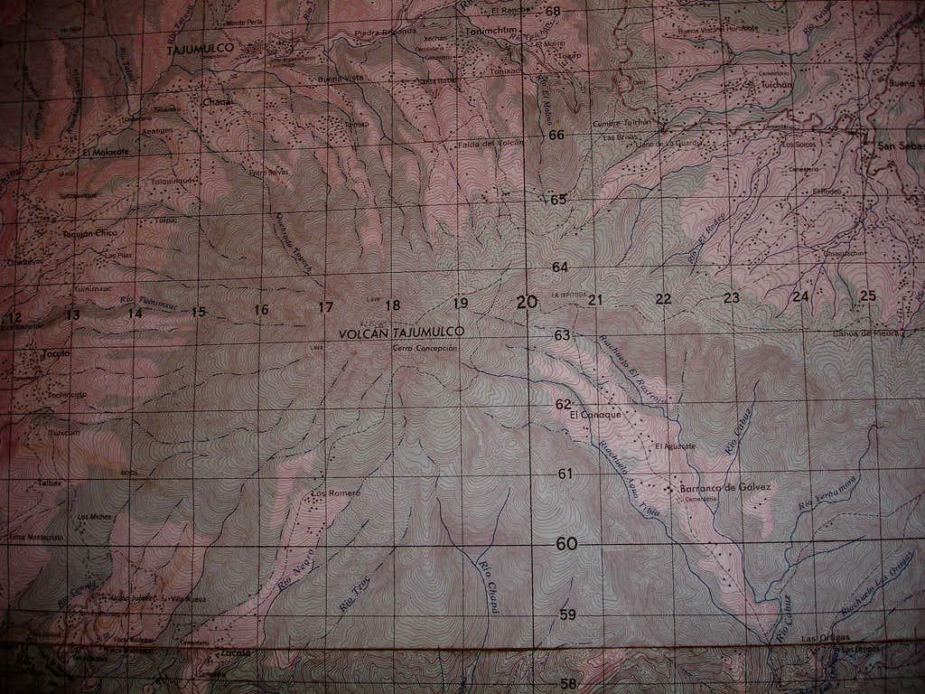 Tajumulco Topo Map