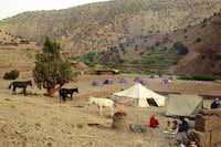 August, 2001. Campsite near...