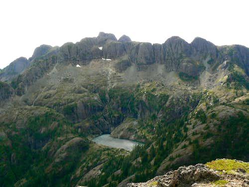 Mt Arrowsmith from Mt Cokely
