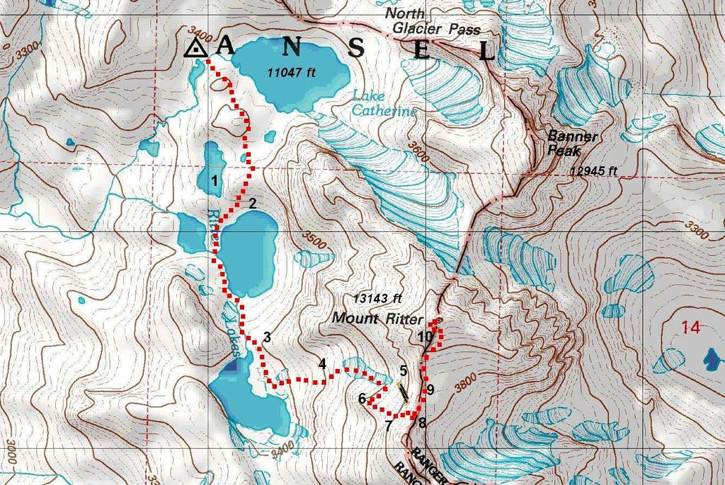 Mt. Ritter West Slope Route