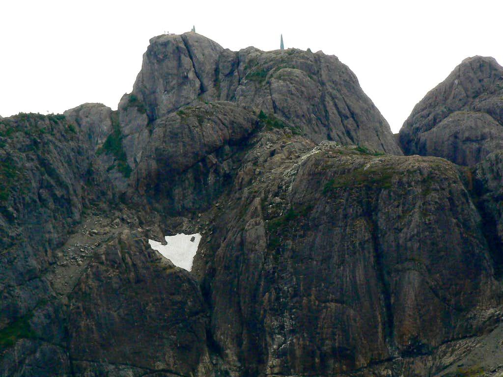 Climbers on the Summit of Arrowsmith