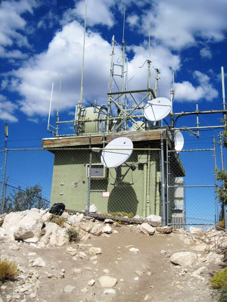 Bertha Peak - summit's repeater station