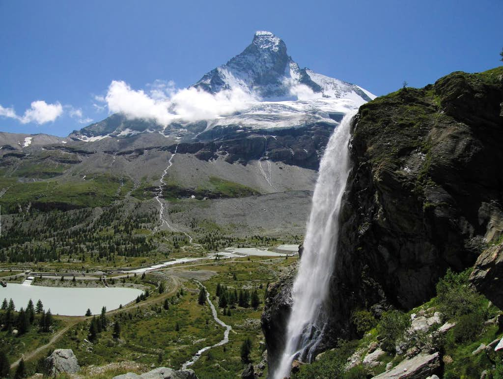 Matterhorn and Scenic waterfall