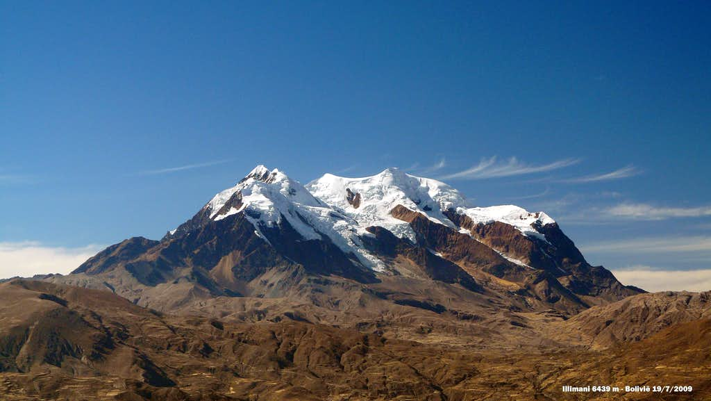 Illimani on the approach