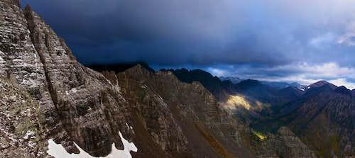Pyramid Peak Hike With Stormy Light