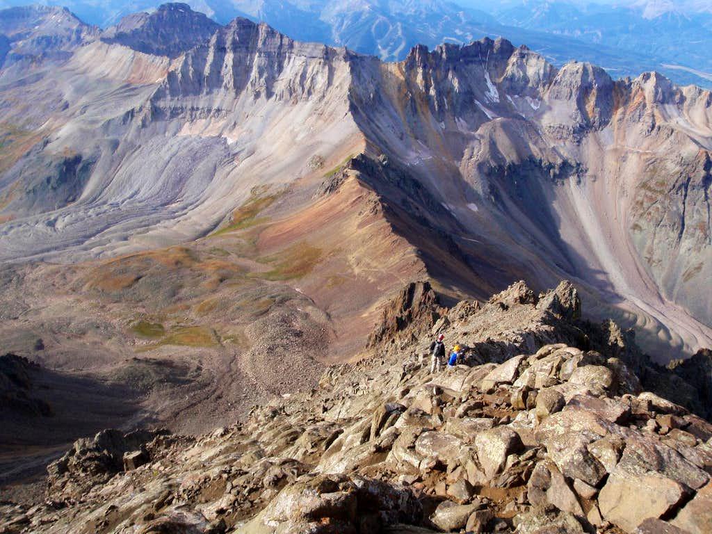 Climbers on the South Ridge