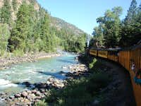 Train and the Animas