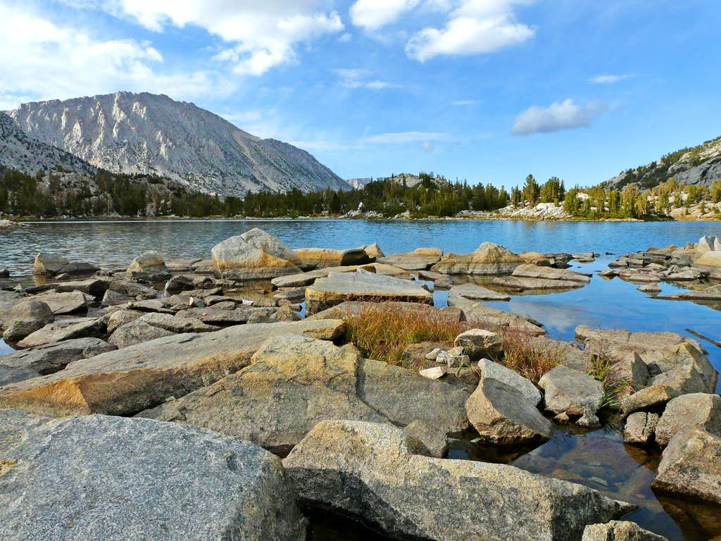 Late afternoon at Chickenfoot Lake with Mt. Starr, 12,835'