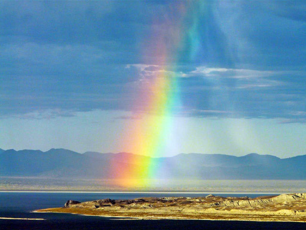 Rainbow over Mono Lake