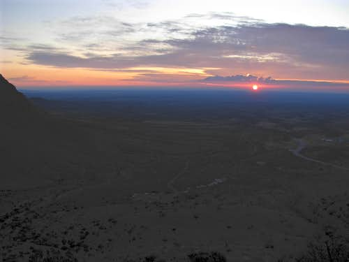 Sunrise Seen From Guadalupe Mountains