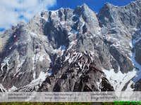 Topo of Hochtor North Face