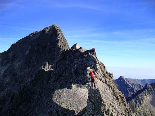 At the beginning of Ladovy ridge