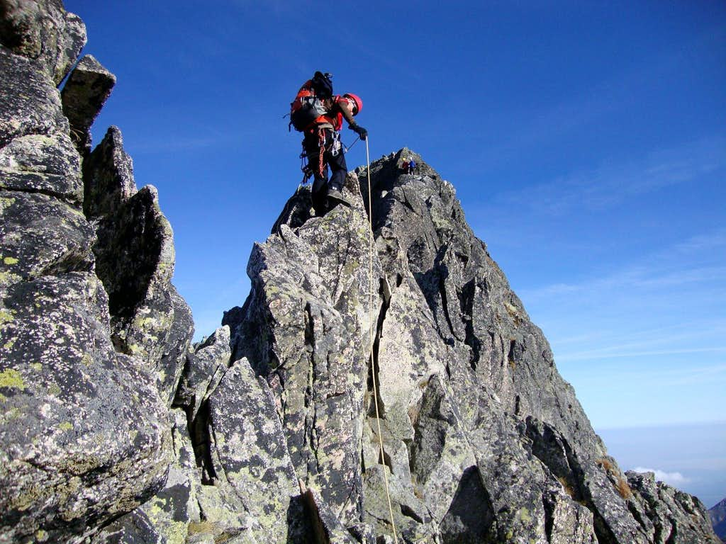 Sharp ridge of Ladovy stit (2628m)